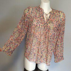 Lauren Conrad pretty flowy floral blouse